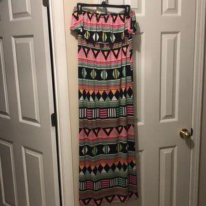 NWOT long strapless dress!
